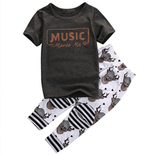 Summer T Shirt Tops Pants Trousers 2017 New Arrival Boys Clothes Hot Sale Baby Boy Clothing Set Kid Clothes Outfits Sets For Boy