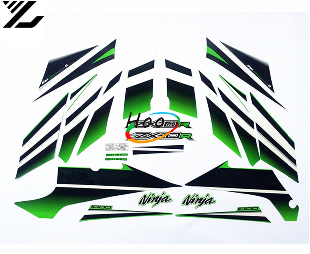 Motorcycle personality body sticker windshield model logo sticker moto gp for kawasaki ninja zx 10r full decals graphics in decals stickers from