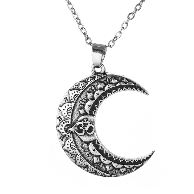 1pcs 3d mentra moon necklace for women lotus yoga pendant india 1pcs 3d mentra moon necklace for women lotus yoga pendant india thailand buddhism necklace jewelry ct727 mozeypictures Choice Image