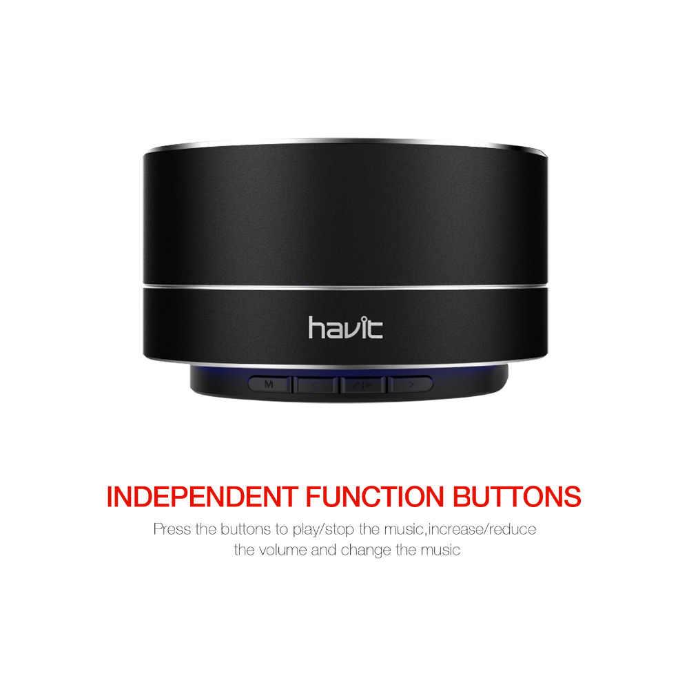 Havit ミニ Bluetooth スピーカーステレオ超低音 Wirless ポータブルスピーカーと 3.5 ミリメートル Aux マイクロ SD カードのためのホームシアターパーティー M8