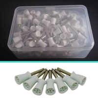 1 paquet (100 pièces) tasses de polissage jetables dentaires polisseuses Type de loquet hygiène buccale blanchiment des dents équipement de laboratoire