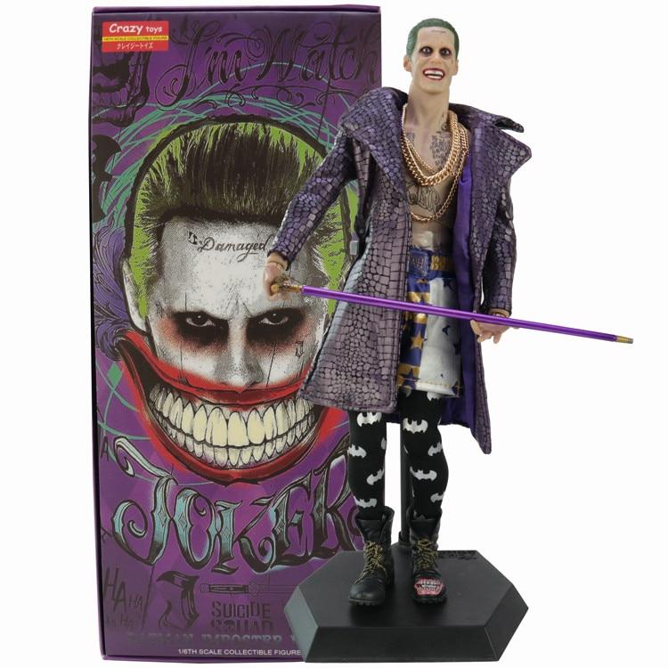 The Joker Crazy Toy Suicide Squad DC Comics Action Figurine No Box