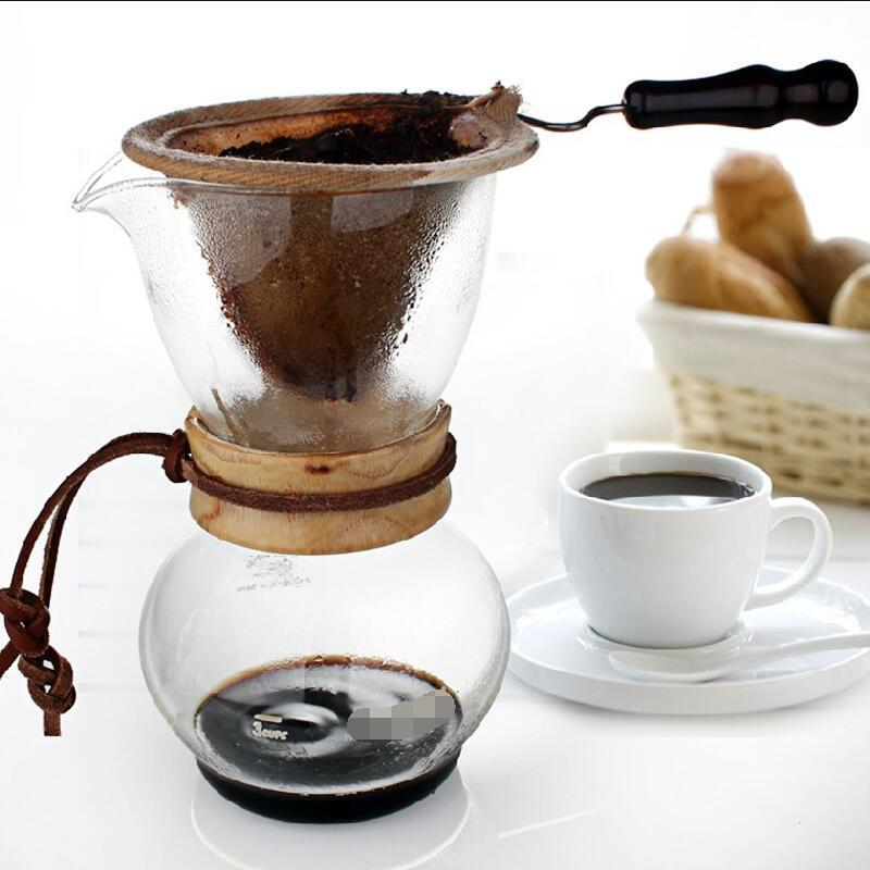 Coffee-memory Flannel Filter Set Drop-out Type Coffee Pot-sharing Pot-net Filter Bag Hand-flushing Pot Permanent Filters