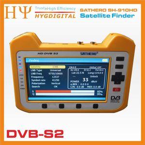 Image 2 - [حقيقية] ساثيرو SH 910HD DVB S2 الرقمية جهاز قياس القمر الصناعي Satfinder HD مع الوقت الحقيقي محلل الطيف وظيفة 7 inch