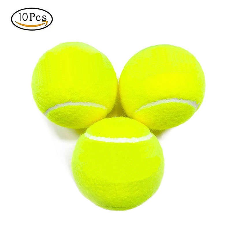 10Pcs Professional Rubber Tennis Ball High Resilience Durable Tennis Practice Ball For School Club Competition Training