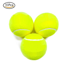 лучшая цена 10Pcs Professional Rubber Tennis Ball High Resilience Durable Tennis Practice Ball for School Club Competition Training