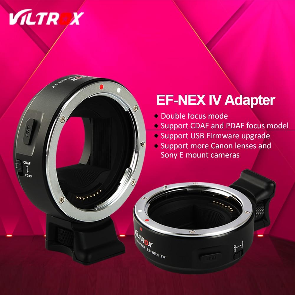 Viltrox EF-NEX IV más rápido adaptador de lente de enfoque automático para Canon EOS EF lente a Sony E NEX marco completo A7 a7R A7SII A6300 A6000 NEX-7