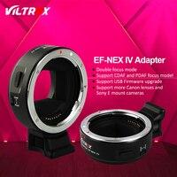 Viltrox EF NEX IV Faster Auto Focus Lens Adapter for Canon EOS EF Lens to Sony E NEX Full Frame A7 A7R A7SII A6300 A6000 NEX 7
