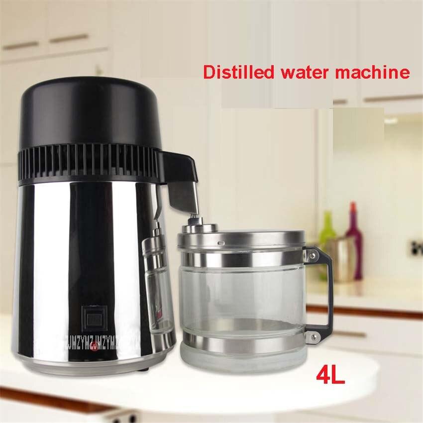220 V / 110 V, ABZ01 Family 304 Stainless Steel Water Distiller 750W Water Dispenser Water Purifier 1L / H Distillation 400mL water dispenser avex h 68fsk