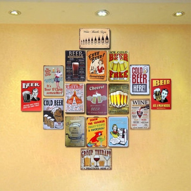 BEER STYLES AROUND THE WORLD Vintage Tin Sign Bar pub home Wall ...
