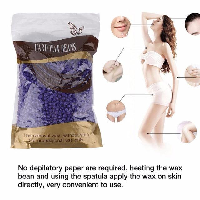 6 lezzetleri Yeni Taşınabilir 100 g/torba Tüy Dökücü Sert Balmumu Fasulye Pelet Ağda Bikini Bacak Kol Koltukaltı Epilasyon Fasulye