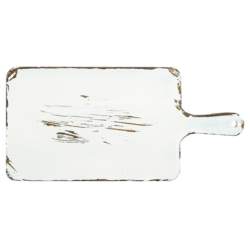 Sweetgo Vintage White Wood Bread Tray Return To The Ancients Style Chopping Block Handle Pizza Board Cake Food Photography Pro