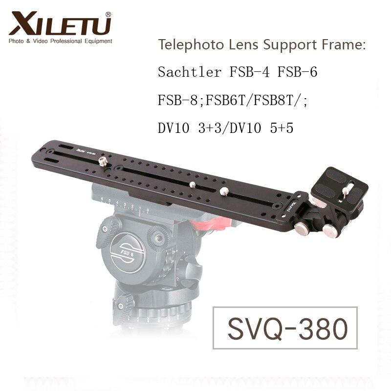 XILETU SVQ-380 téléobjectif Support cadre caméra Support d'objectif Support pour Sachtler FSB-4/6/8 FSB6T/8 T DV10 3 + 3/5 + 5