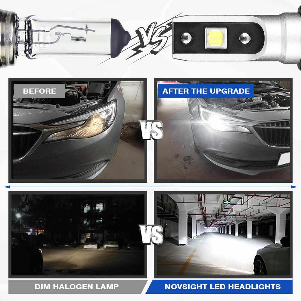 NOVSIGHT H4 светодиодный H7 H11 H8 9006 HB4 H1 H3 HB3 H9 H13 9007 HB3 9003 HB2 Автомобильные фары для авто светодиодный светильник 18000LM 6500K 12V