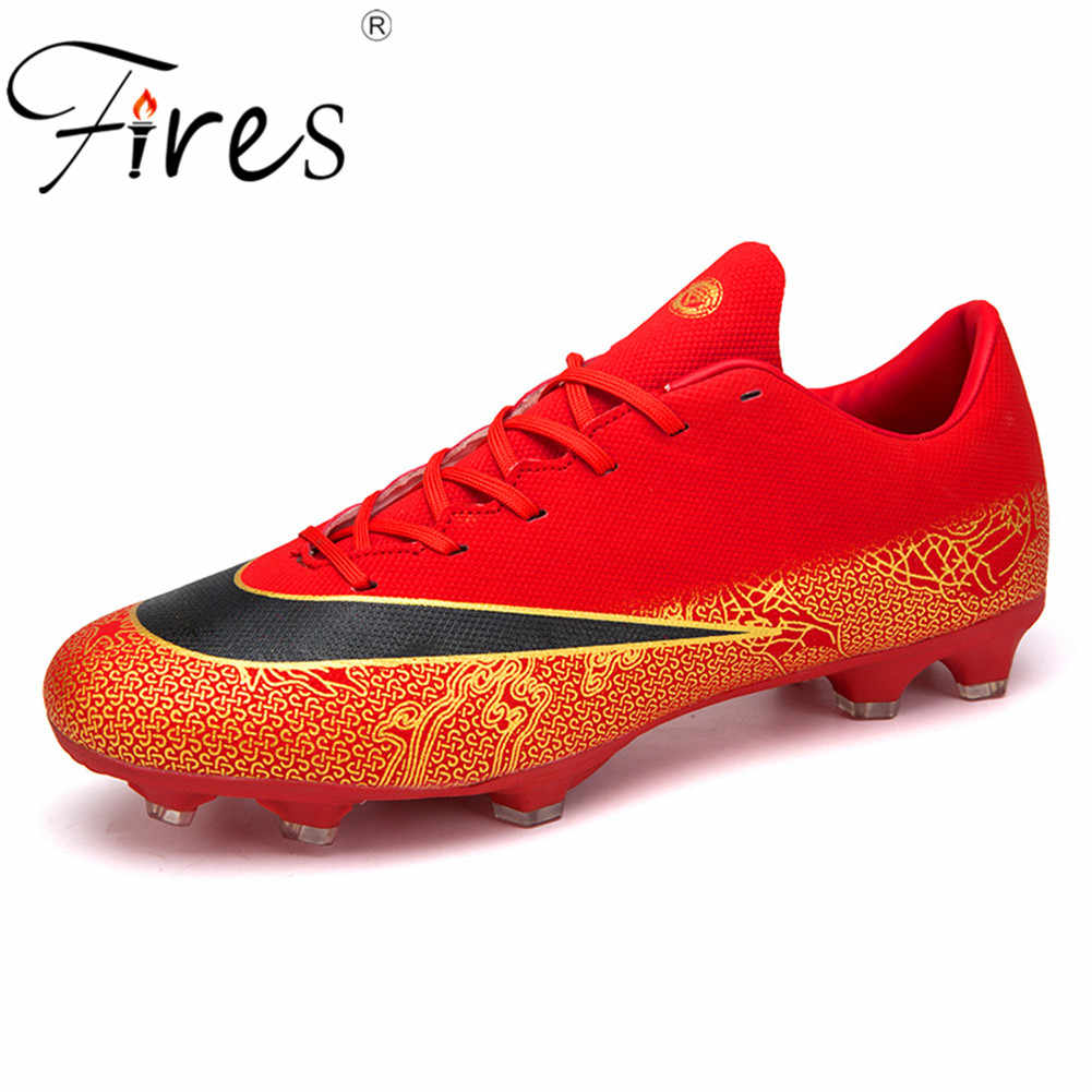 2860728c555b ... Fires FG/TF Men Soccer Shoes Long Spikes High Top Ankle Football Shoes  Boot Outdoor ...
