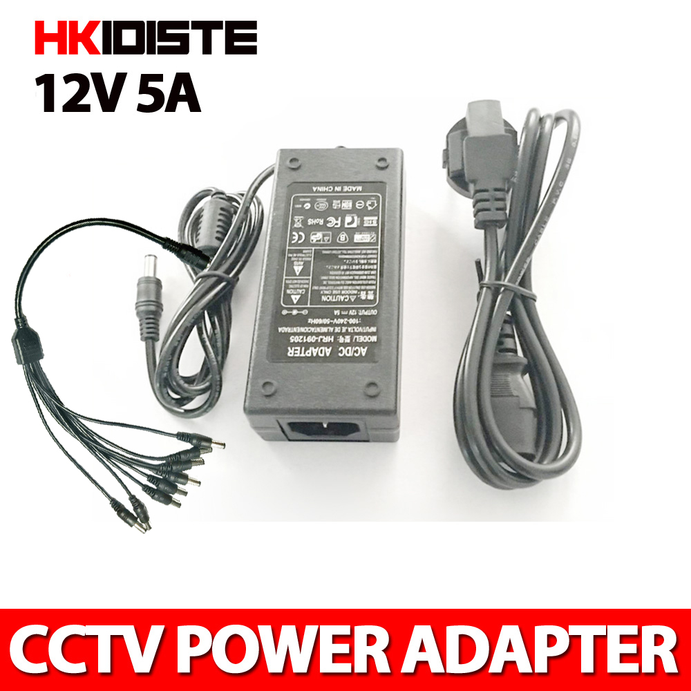12 V alimentation pour led strip UE/US/UK/AU adaptateur AC100-240V à DC12V 5A plug transformateur Adaptateur D'alimentation Pour Led