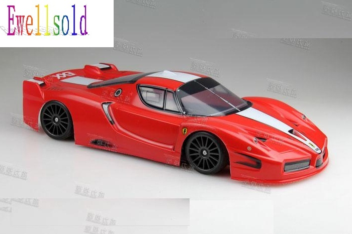 Ewellsold 1:10  Radio Control Car 1/10  PVC Body Shell 190mm  No:002 Red and yellow free shipping