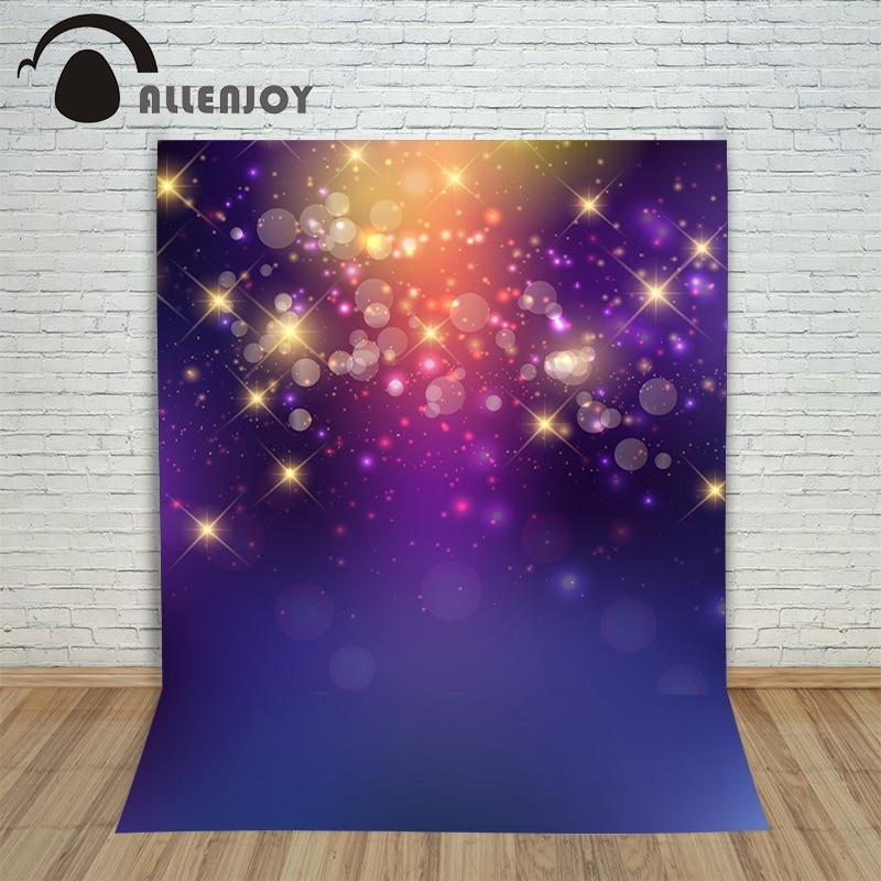 Christmas photographic background The stars bokeh spot purple new year photo vinyl new fabric children