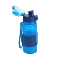 Al aire libre Botella de Agua Plegable Portable 350 ML de Silicona Ciclismo Copa para Viajes Al Aire Libre bicicleta de la Bici del Deporte