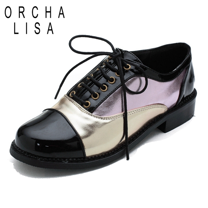 ORCHA LISA Women Flat shoes 2017 Spring Cool Black Patent ...