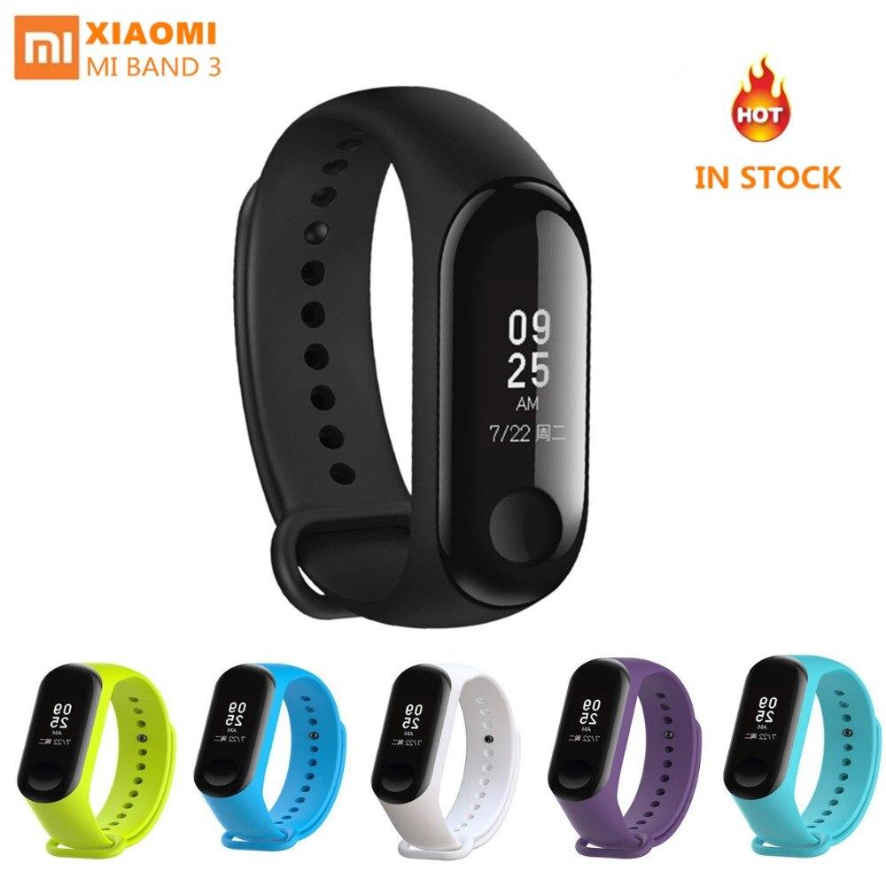 0b5a12f1be1 Xiaomi 3 Smart Wristband watch Mi Band Touch Screen Heart Rate Monitor mi  band 2