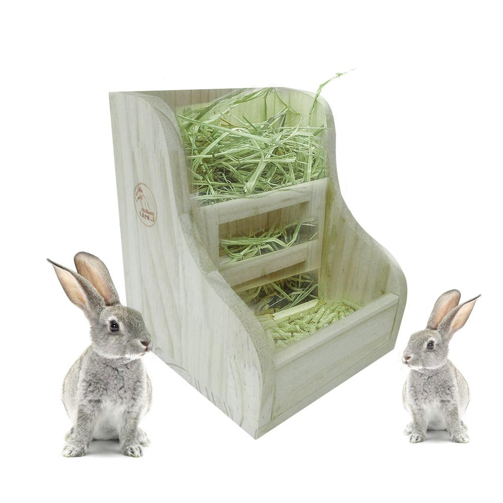 Rabbit Grass Frame Hay Feeder Manger Rack For Rabbit Guinea Pig Chinchilla Fixed Flip-up Holder