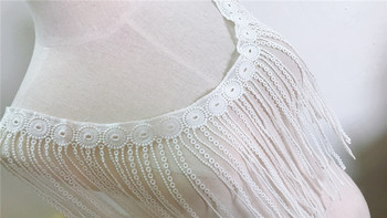 Venice Tassels Macrame French Lace Trim Accessories,Ivory Watersoluble Embroidery Bridal Antique Delicate Guipure Trim 10 YARDS
