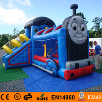 Commercial Thomas The Train inflatable bouncer castle with slide