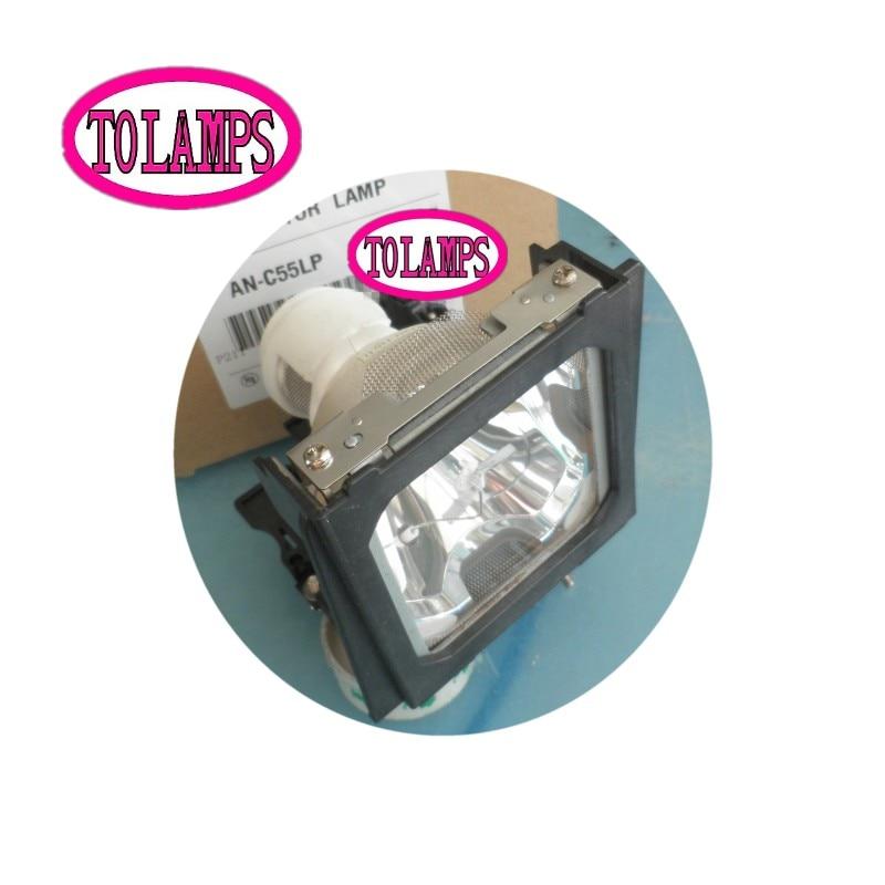 Projector Lamp Bulb AN-C55LP ANC55LP C55LP for SHARP XG-C55X XG-C60X XG-C68X with housing compatible projector bulb with housing an xr30lp fit for xg f260x xg f261x free shipping