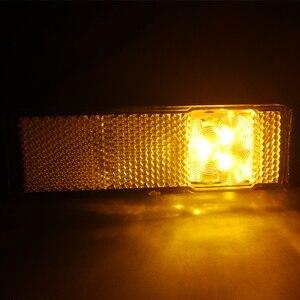 Image 3 - 2 CHIẾC AOHEWEI 12 V 24 V LED hổ phách bên cột mốc đèn báo vị trí đèn Led Ligh đèn ký ánh sáng cho xe kéo LED đuôi đèn