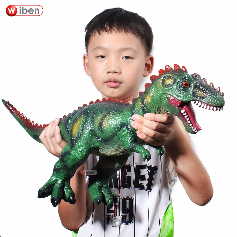 Jurassic Big Dinosaur Toy Allosaurus Soft Plastic Animal Model Children Toy Gifts bwl 01 tyrannosaurus dinosaur skeleton model excavation archaeology toy kit white