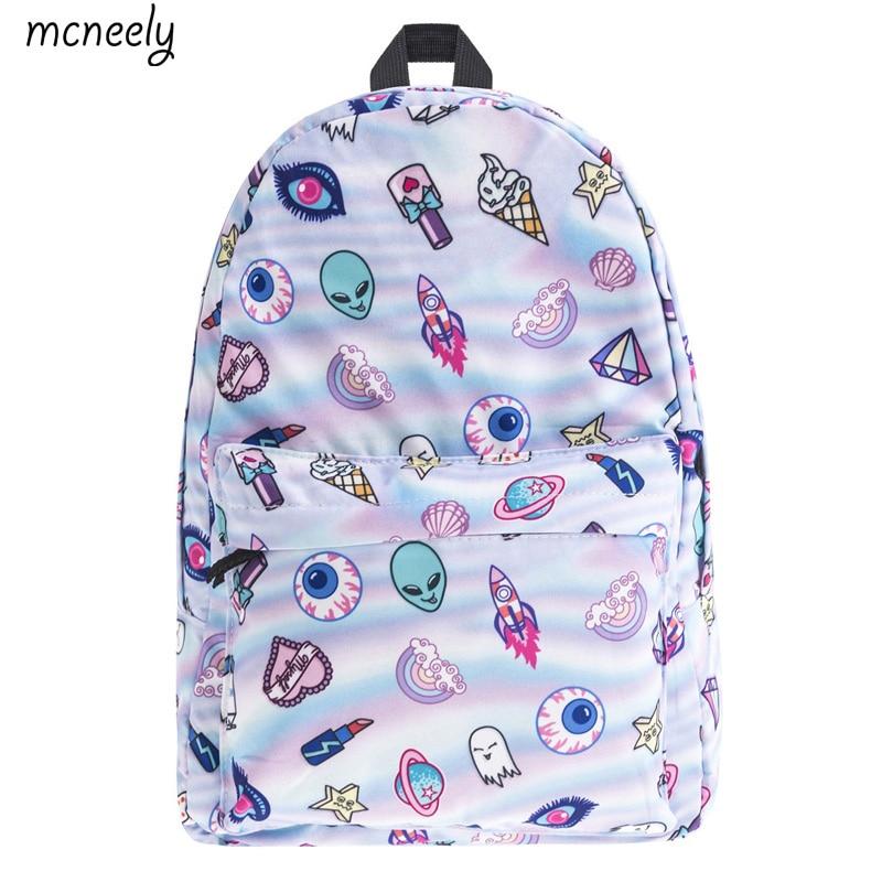 Lovely Boys Girls Cartoon Pattern Backpack School Bag Rucksack Fully Printed Luggage Travel Bag Students School Bag