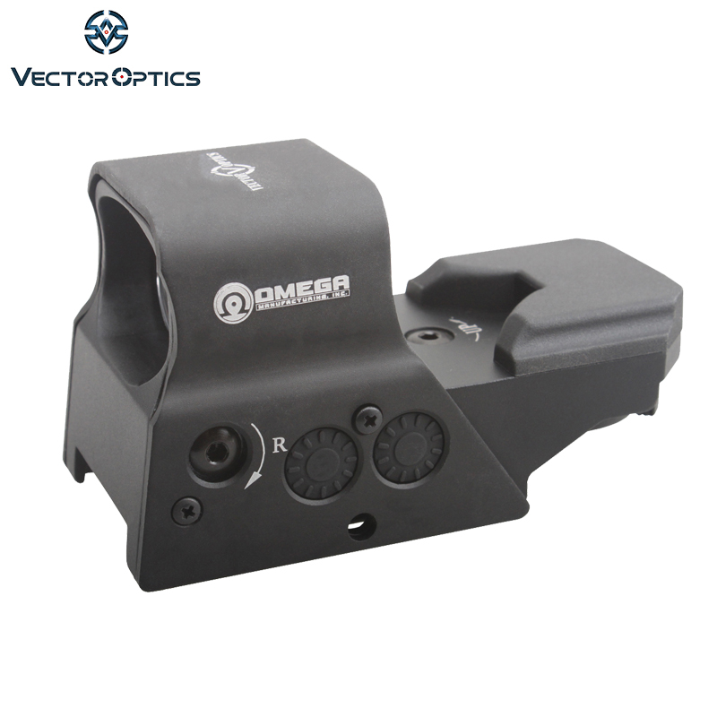 Vector Optics Omega Tactical Reflex 8 Reticle Red Dot Sight High End Quality Scope fit for .223 AR15 7.62 AK 47 12ga vector optics tempest 1x35 multi reticle tactical red dot scope mil spec matte finish fit picatinny rail low for night vision