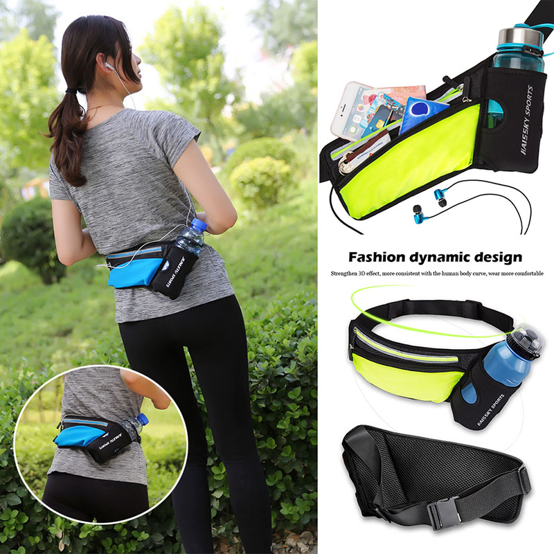 New Running Marathon Waist Bag Sports Climbing Hiking Racing Gym Fitness Lightweight Hydration Belt Water Bottle Hip Waist Pack