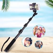 Yiwa PULUZ Extendable Adjustable Pole Handheld Selfie Stick Monopod for GoPro HERO5 HERO4 Session HERO 5 4 3+ 3 2