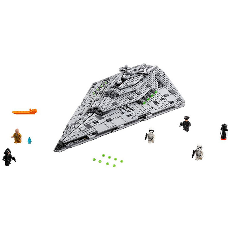 LEPIN 05131 466pcs Star pian Series The First order Star Model Destroyer Model Building Block Brick Toy For children Gift 75190 05028 star wars execytor super star destroyer model building kit mini block brick toy gift compatible 75055 tos lepin