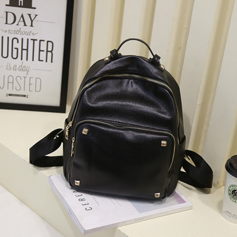 2017 Summer new female bag quality pu leather women bag Korean Style sweet College students Black backpack lovely girl rivet bag multi colored 9 mode 17 led aquarium submersible light lamp ac 220 240v eu plug