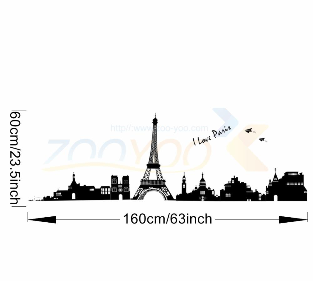 US $4 03 OFF I Love Paris Eiffel Tower World City Symbol Wall Decal Zooyoo2149 Decorative Adesivo De Parede Removable Pvc Wall Sticker Pvc Wall