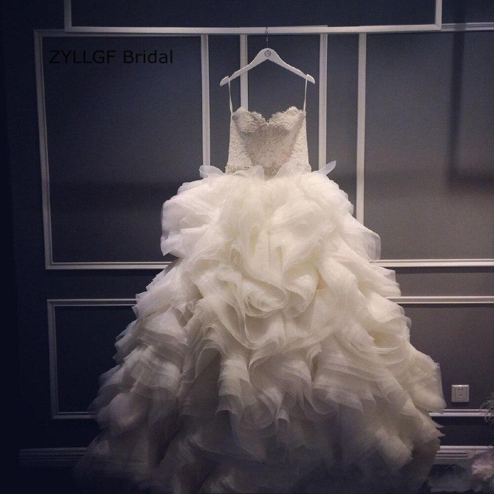 ZYLLGF Bridal Puffy Sweetheart Hochzeitskleid Ruffle Wedding
