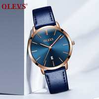 OLEVS High Quality Ladies Watch Leather Watchband For Women Japanese Movement Quartz Date Calendar Casual Watches