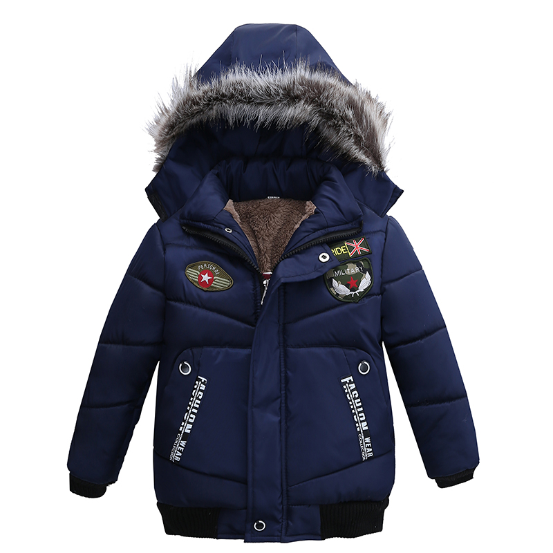 2017 New Fashion Children'S Winter Thick Down Jacket Boys Wear Coat casual Hooded down jacket
