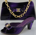 New Women Shoe and Bag To Match for Parties Purple Color African Wedding Shoe and Bag Sets High Quality Shoe and Bag for Parties
