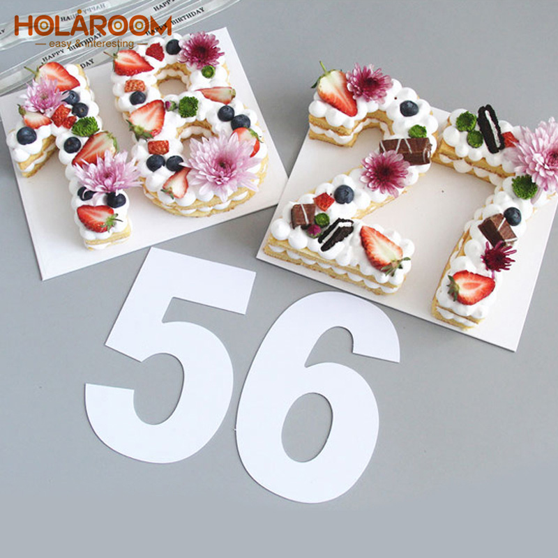 Holaroom Cake Decorating Tools PET 0 8 Number Cake Mold ...