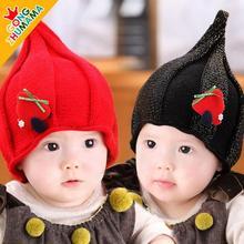 Супер милый эльфы дети вязаные шапки девочки-младенцы зима шляпа дети Earflap кепка возраст для 6 месяцев-12 3 года старый