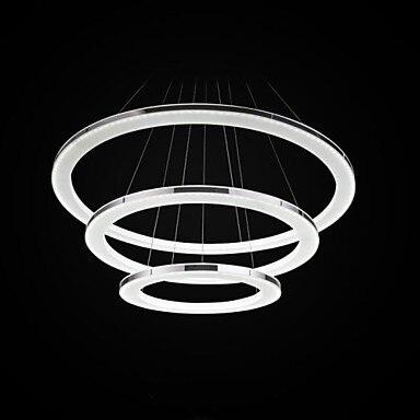 Acrylic Three Rings Modern LED Pendant Light Lamp For Living Room,Lustres E Pendentes De Sala 40cm acrylic round hanging modern led pendant light lamp for dining living room lighting lustres de sala teto