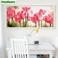 Home Beauty 50 100 Diy Oil Picture By Numbers Flowers Modular Canvas Painting Coloring By Number
