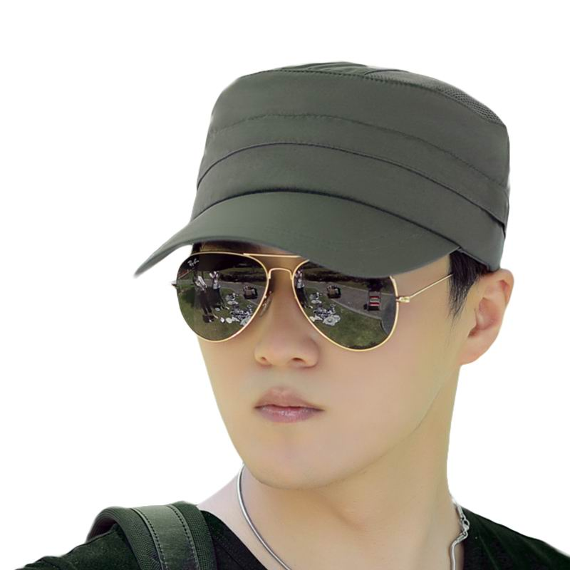 Kagenmo 2 Use Men Flat Top Sun Hat Fashion Leisure Male Sport Cap Outdoor Quick Dry Casual Male Sports Golf Run Sunbonnet