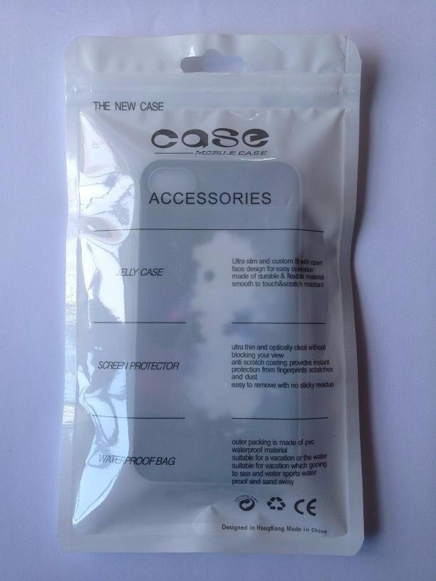 12 21 cm 1000 pcs Wholesale Newly design opp zipper bag Plastic zipper Bags Cell Phone