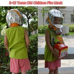 Children Fire Escape Mask 30 Minutes Emergency Oxygen Gas Masks Respirators 3C certification Children Kids Special Face Mask