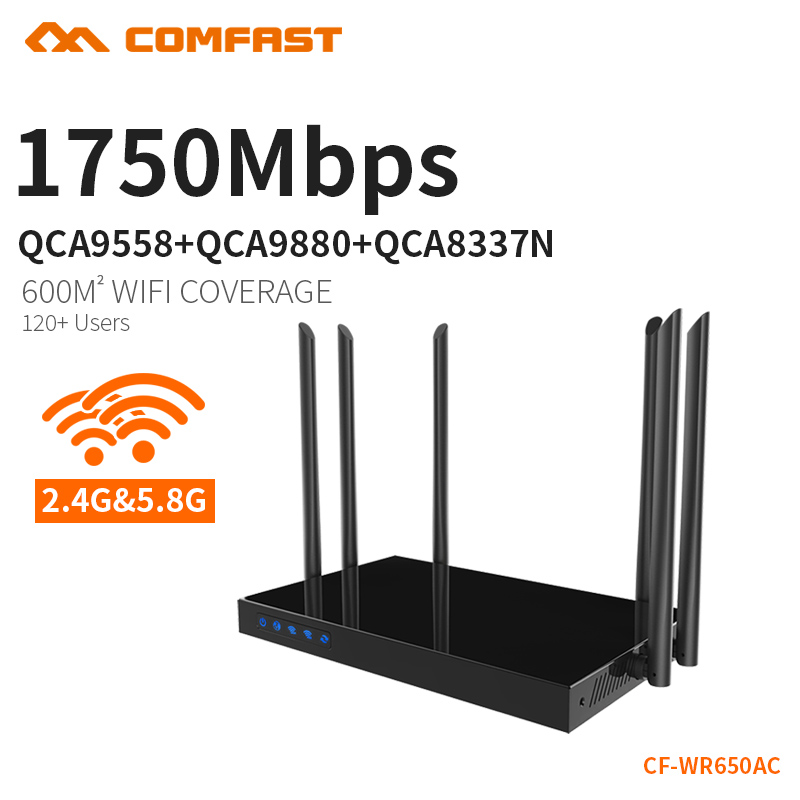 COMFAST 1750Mbps AC WIFI Router 2.4G+5.8G Enginering AC Manage router 1Wan 4Lan 802.11ac access point wi fi router CF-WR650AC 1750mbps 2 4g 5 8g dual band ac wifi router enginering ac manage1wan 4lan 802 11ac access point wi fi router comfast cf wr650ac